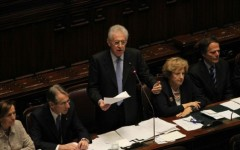 governo monti in aula