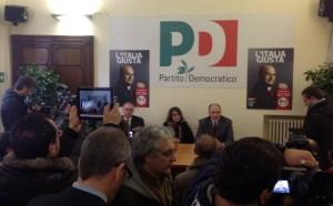 Presentazione delle liste PD in Campania con Letta, Capacchione, Epifani