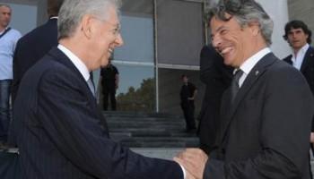 Mario Monti con Mussari