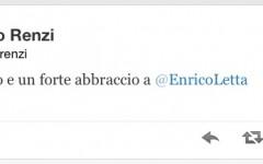 Il twitter di Renzi