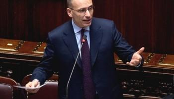 Il Presidente Enrico letta interviene alla Camera