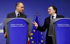 Josè Manuel Barroso e Enrico Letta