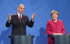 Enrico Letta e Angela Merkel