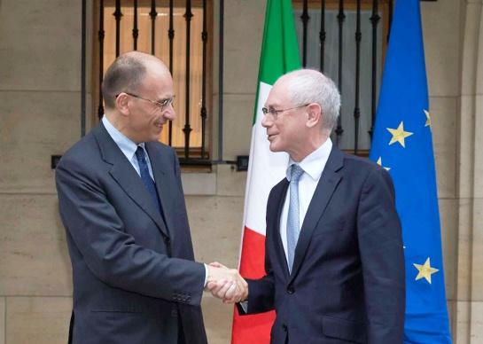 Enrico Letta con Herman Van Rompuy