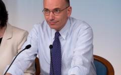 Enrico Letta in conferenza stampa