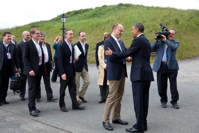 Al G8 di Lough Erne primo incotro tra Barack Obama e Enrico Letta (foto Pete Souza)
