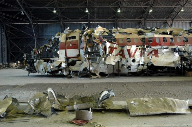 I resti del DC9 Itavia abbattuto su Ustica