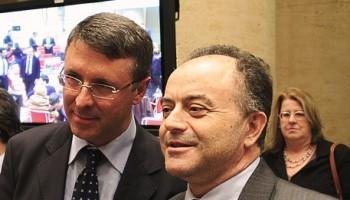 Raffaele Cantone, magistrato di Cassazione; Nicola Gratteri, procuratore aggiunto Reggio Calabria;