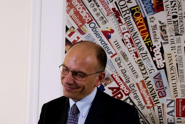 Enrico letta all'Associazione Stampa estera in Italia