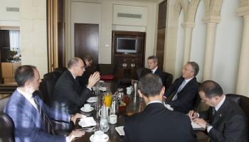 Enrico Letta e Tony Blair a Gerusalemme