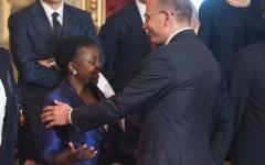 Enrico Letta e Cecile Kyenge