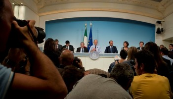conferenza stampa del governo Letta sull'abolizione dell'IMU