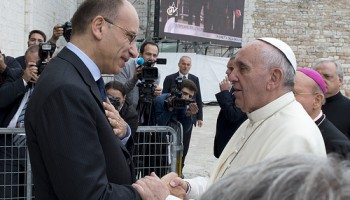 Papa Bergoglio e Enrico Letta