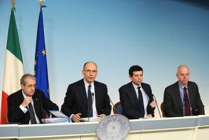 conferenza stampa Letta